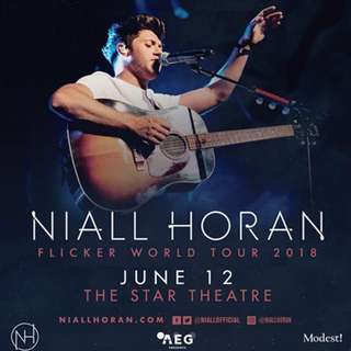 2 Tickets Nial Horan Singapore Concert 12 June 2018