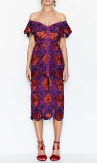 Alice Mccall inspired tutti fruity violet floral dress