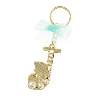 日本 Disney Store 直送 Aladdin 阿拉丁 Jasmine 茉莉公主珍珠系列 Initial J 鎖匙扣