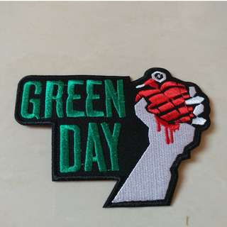 Green Day - American Idiot Logo Shaped Woven Patch Band Merch