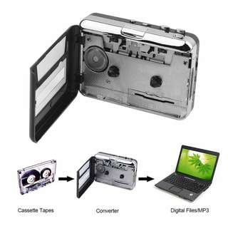Tape to PC Super Cassette To MP3 Audio Music CD Digital Player Converter Capture Recorder +Headphone USB 2.0