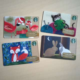 Starbucks USA - Starbucks Card Animals Versions