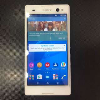 Sony C3 white color,good condition,used,android 🍄👍🏻💎