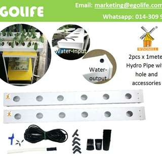 "2pcs Hydroponic PVC Pipe 4""x2"",  DIY Hydro Pipe / Aquaponic"
