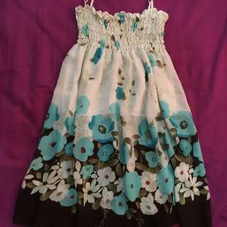 Floral Chiffon Babydoll Dress/Skirt