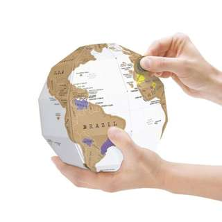 DIY 3D Globe Model With Scratch World Map