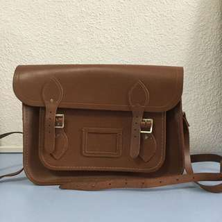 "Cambridge Satchel 13"" in Brown Leather"