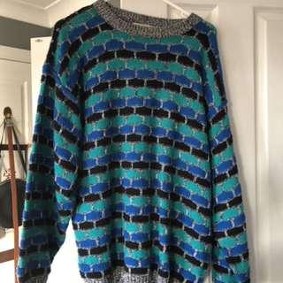 Knitted hippie vintage jumper