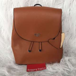 Authentic Guess Hard Leather Backpack