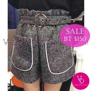 🈹韓國橡筋腰短褲 (連腰帶)
