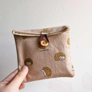 手作刺蝟小物/M巾袋