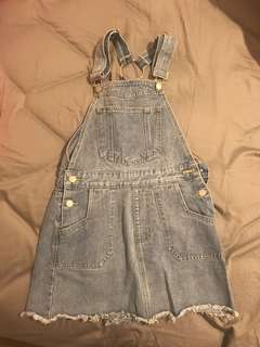 THE ICONIC - ATMOS & HERE - Denim Pinafore Overalls Size 6