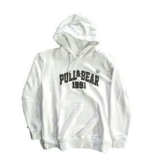 Vintage Denim Pull&Bear White Hoodie