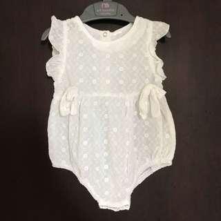 Baby Romper White 6-12 bulan #MakinTebel