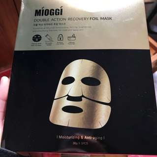 Mioggi double action recovery foil mask 金箔活炭雙效修復面膜