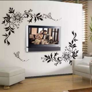 💥( $26 Pic 1 Use 2 set )European Style Flower Vineyard Wall Sticker Decoration  Home Decor