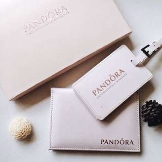 Authentic Pandora Passport and Luggage Tag Travel Set