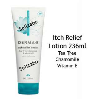 236ml Relief Itch Body Lotion Tea Tree Vitamin E Chamomile Relieving Derma E Dry Itchy Skin Moisturizing Sellzabo Itchiness Moisturising Moisturiser Moisturizer Antiseptic Anti Bacteria