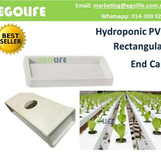 Hydroponic PVC Rectangular / Square End Cap Farm Garden Irrigation End Cap