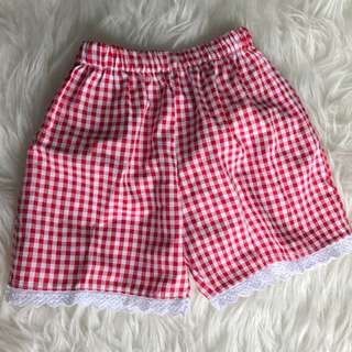 Red Check Baby Girl Short #MakinTebel