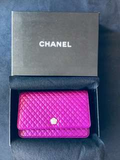 RARE Chanel wallet clutch with chain