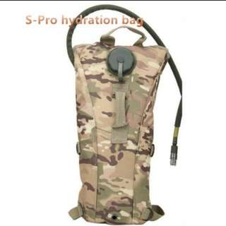 In stock! S-Pro 2.5 L portable hydration bag camo tactical cycling bike camel water bladder bag assault backpack camping,hiking water pocket bag