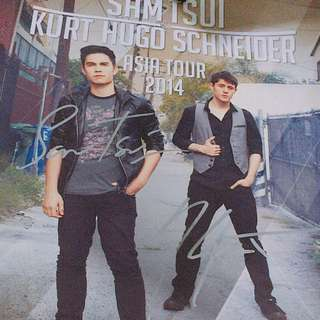 Sam & kurt signed poster
