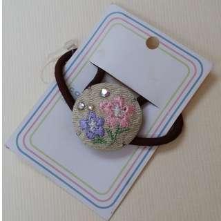 全新 日本繡花橡根頭飾