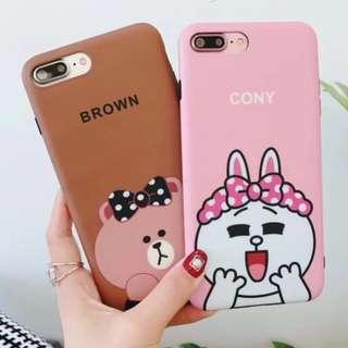 手機殼IPhone6/7/8/plus/X : Linefriends系列小熊小兔