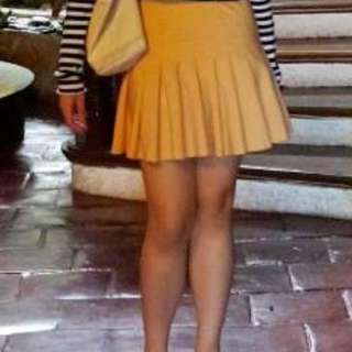 Zara orange skirt
