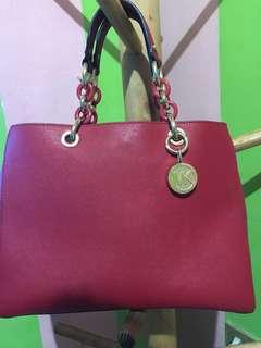 MK Cynthia Medium Leather Satchel