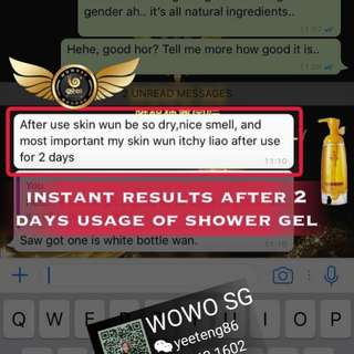 Customers review after using Wowo shower Gel