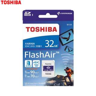 Toshiba 32GB Flash Air WT-04 High Speed Wifi memory Card (made In Japan Original) MCMC apply