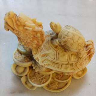 Fengshui Dragon Turtle Statue