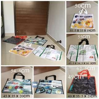 (BN) Set Of 4 Rectangles Waterproofs Totes Bag
