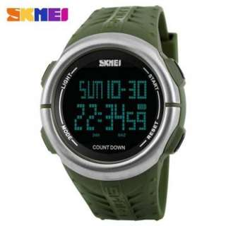 SKMEI 1286 GREEN RUBBER STRAP WATCH FOR MEN - COD FREE SHIPPING