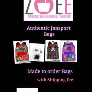 Authentic Jansport bagpack ,cellphone pouch, tote bag