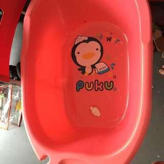 Pink Puku Baby Bathtub