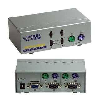 Smart View ,IC-7121 ,2 Port KVM Switchbox (PS/2)