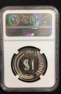 925 SILVER $1 Coin 1980SM PF67 Ultra Cameo