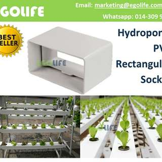 Hydroponic PVC Rectangular / Square Socket Farm Garden Irrigation Connector