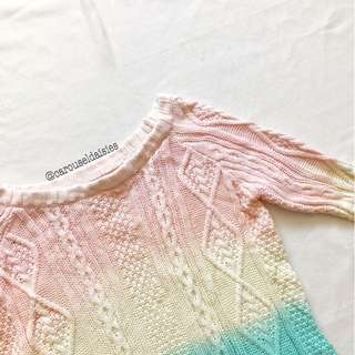 Ombre Rainbow Knit Sweater