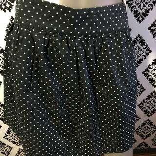 Polka Dots Black & White Skirt