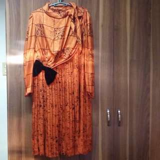Tangerine Duchess Kate Dress