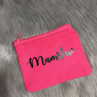 Mamshie Pink Wallet Coin Purse/Key Pouch