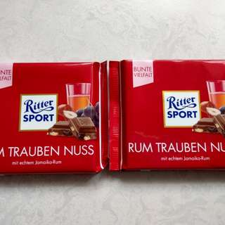 🚚 Ritter sport 瑞斯特巧克力(萊姆酒口味)