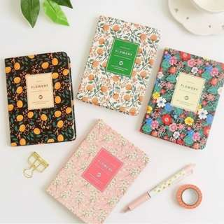 Floral Diary Planner Notebook