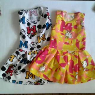 Mickey && hello kitty dress for 2