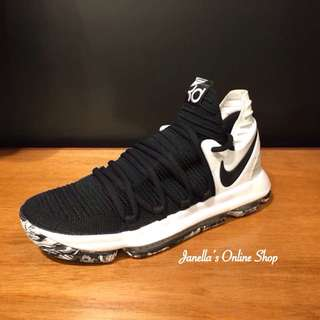 KD 10 Black & White Marbled Outsole