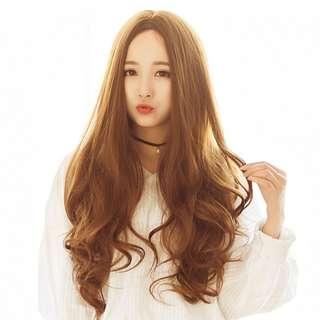 Hair Wig Rambut Palsu Panjang (Light Brown)